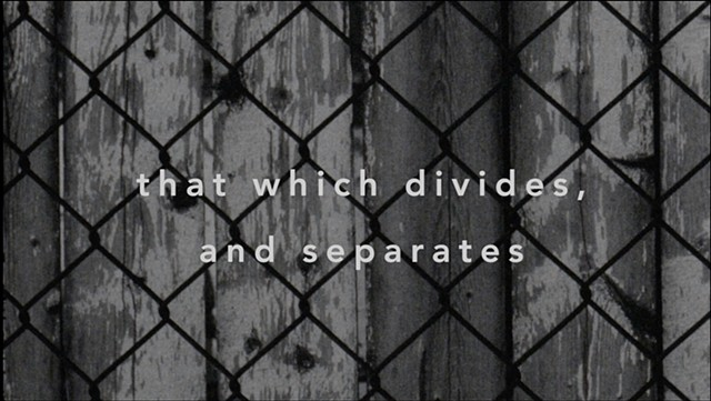 That Which Divides, And Separates
