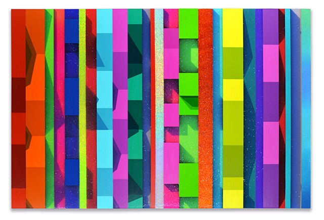 hardedge painting, abstract painting, geometric art