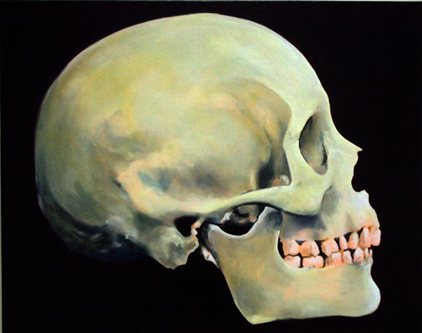 Ben Williamson artist, Ben Williamson painting, Ben Williamson art, Ben Williamson, Painting, Somebody's Skull