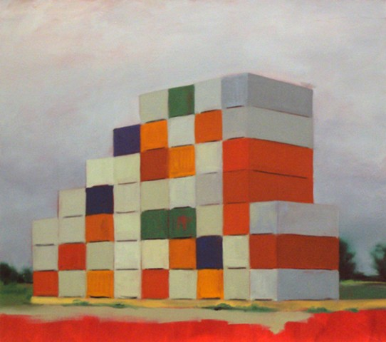 Ben Williamson artist, Ben Williamson painting, Ben Williamson art, Ben Williamson, Painting, Containers