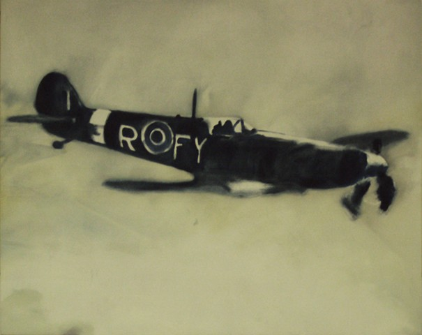 Ben Williamson artist, Ben Williamson painting, Ben Williamson art, Ben Williamson, Painting, Spitfire