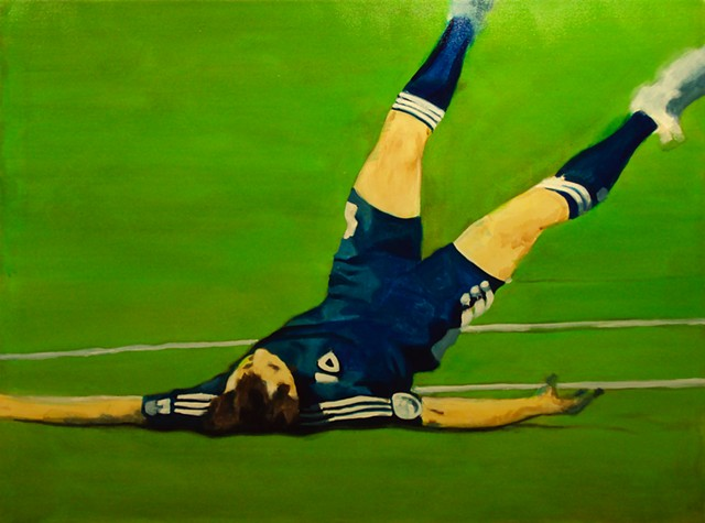 Ben Williamson artist, Ben Williamson painting, Ben Williamson art, Ben Williamson, Painting, Footballer