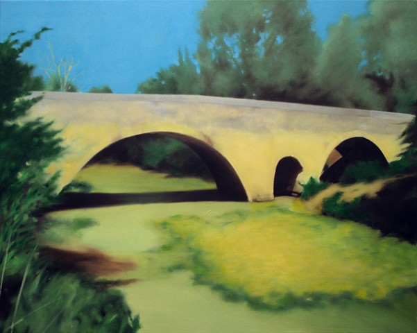 Ben Williamson artist, Ben Williamson painting, Ben Williamson art, Ben Williamson, Painting, A bridge built by Romans