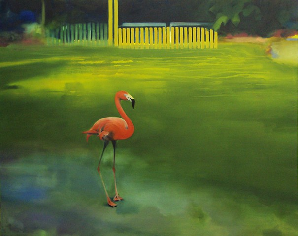 Ben Williamson artist, Ben Williamson painting, Ben Williamson art, Ben Williamson, Painting, Flamingos