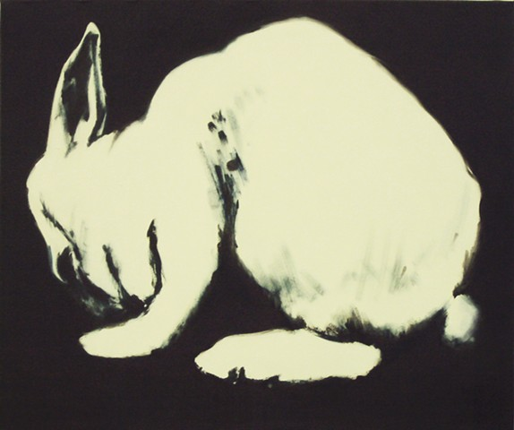 Ben Williamson artist, Ben Williamson painting, Ben Williamson art, Ben Williamson, Painting, A Rabbit Poisoned by Scientists