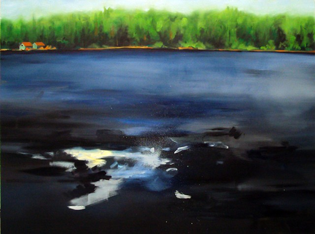 Ben Williamson artist, Ben Williamson painting, Ben Williamson art, Ben Williamson, Painting, Canoe Lake