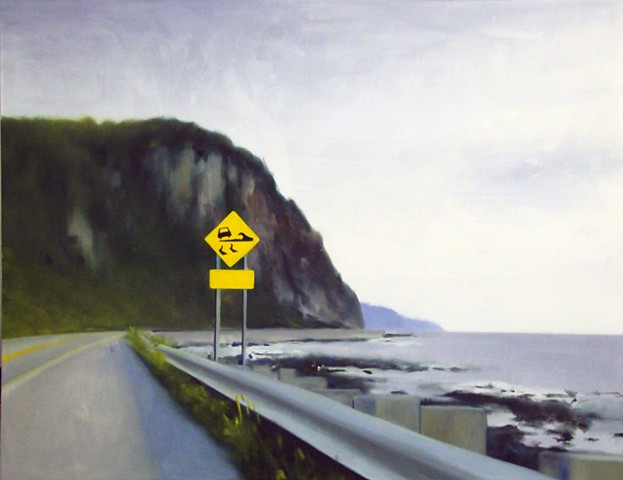 Ben Williamson artist, Ben Williamson painting, Ben Williamson art, Ben Williamson, Painting, Vagues sur la Route