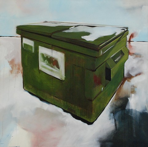 Ben Williamson artist, Ben Williamson painting, Ben Williamson art, Ben Williamson, Painting, Dumpster