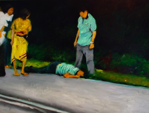 Ben Williamson artist, Ben Williamson painting, Ben Williamson art, Ben Williamson, Painting, Man Lying Down