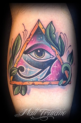 neo traditional all seeing eye matt truiano