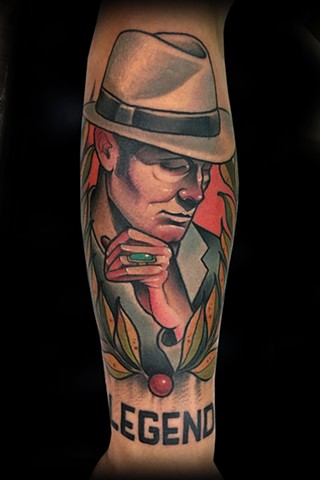 neo traditional color tattoo gentleman head nyc matt truiano