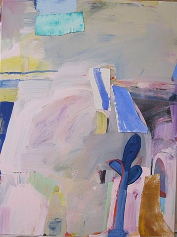 New abstract painting by Andrew Portwood