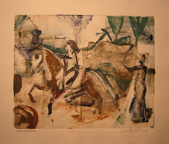 horses, myth, story, abstract landscape