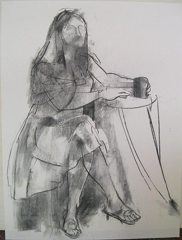 Woman in Cafe 1, coffee girl