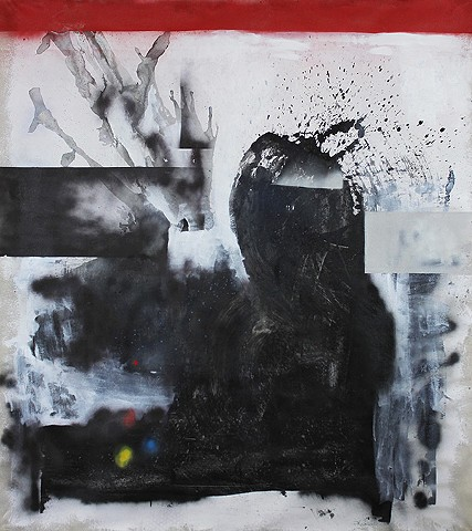 ink spot painting, dada art, abstraction, street art, spray paint art, large format abstract paintings