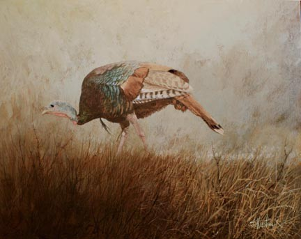 TFlorida Turkey Acrylic Painting Scott Hiestand