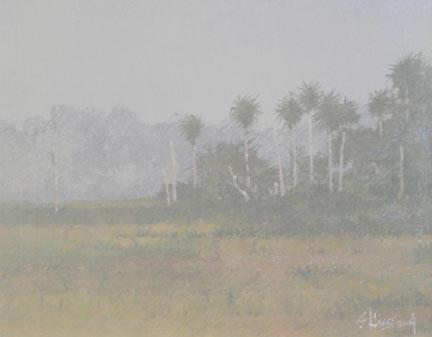 Florida fog acrylic painting Scott Hiestand