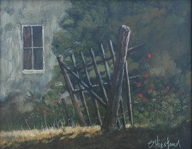 Rose Gardens Acrylic Painting Scott Hiestand