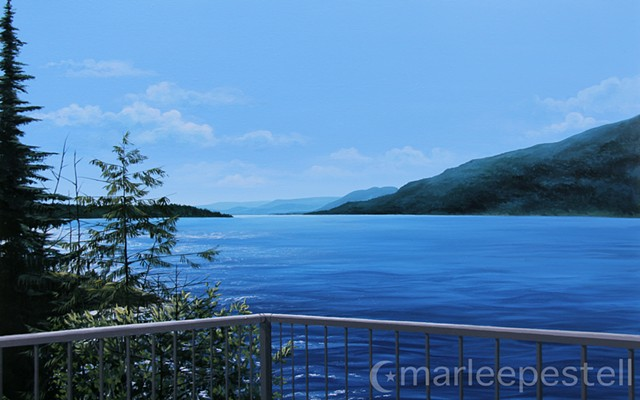 Nature, photorealistic, lake view