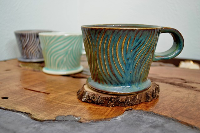 Carved Blue Hair Coffee Mug
