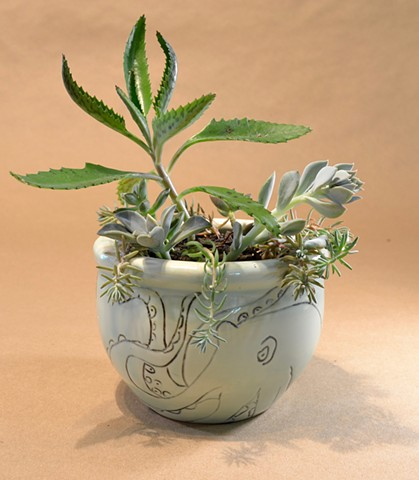 Small Octo Planter Pot
