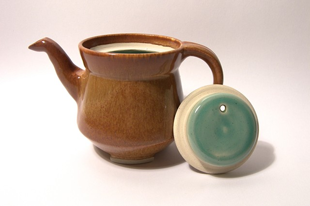 Nutmeg & Celadon Single Serving Teapot
