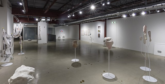 Installation view, upstairs: 'Hair did. Nails did. Keep everything did. (Gustav von Aschenbach)'