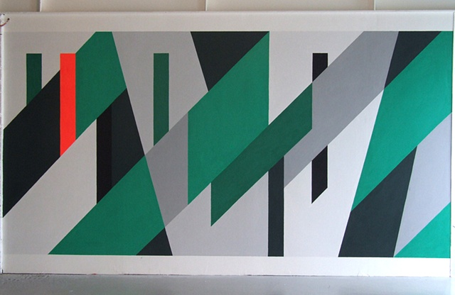 Peter Saville's OMD 'Dazzle Ships' (1983) Album Cover, Taken from the Album Itself, Enlarged to Fit This Big Wall