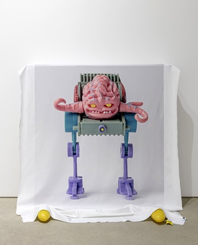 '(Krang) Always has seemed like a good stand-in for thoughts about being, and also object + display device, mango toes, banana hand'