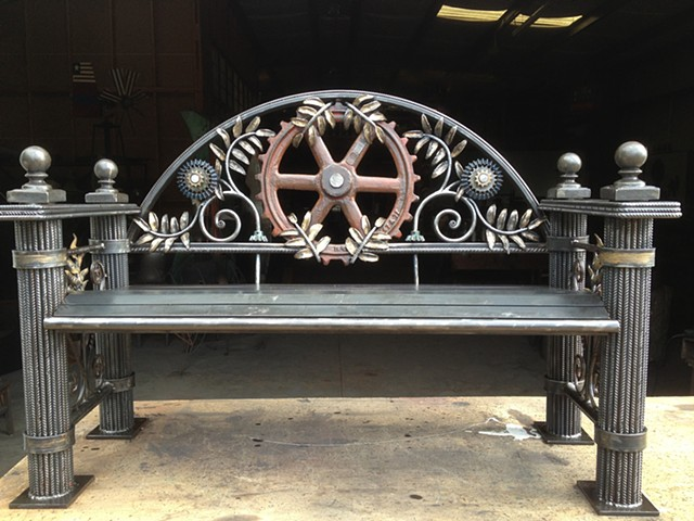 SteamPunk Jungle Bench by Thomas Prochnow