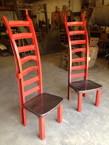 Ladderback Chairs by Thomas Prochnow