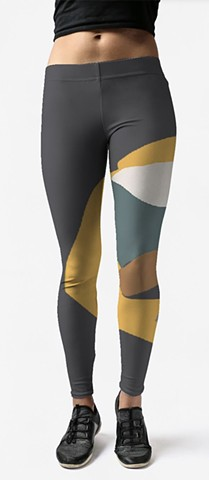 Leggings- Yellow/Gray