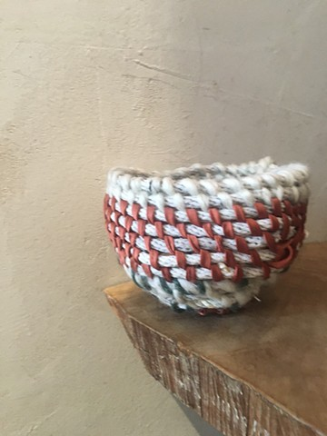 Silk and wool basket
