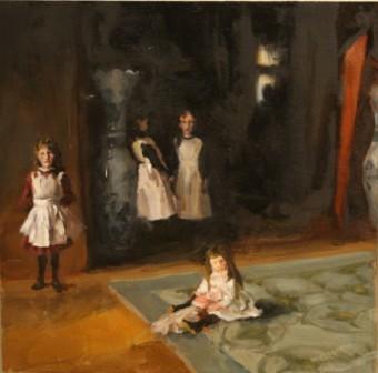 Lauren Pellerito, painting, art, master copy, John Singer Sargent, the daughters of edward darley boit, study,