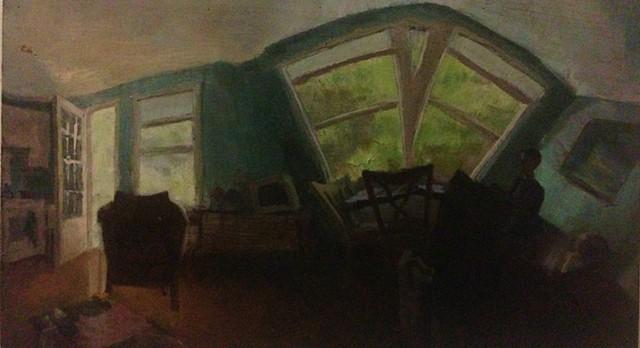 Lauren Pellerito, art, painting, interior, landscape