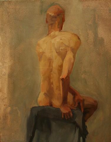 Lauren Pellerito, art, painting, figure, study