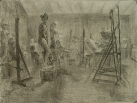 Lauren Pellerito, art, drawing, cast hall, draw-a-thon, classical, academy,