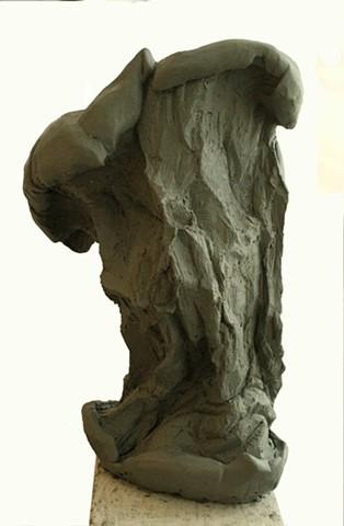 Lauren Pellerito, art, sculpture, apple core, clay modeling, abstract, decay,