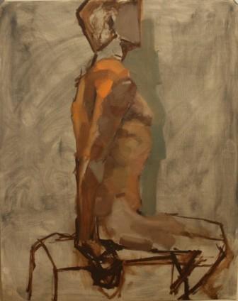 Lauren Pellerito, painting, art, figure, study