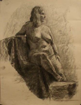 Lauren Pellerito, charcoal, drawing, art, figure, study,