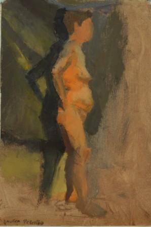 Lauren Pellerito, painting, art, figure, pallet knife, study