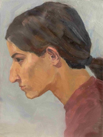 Lauren Pellerito, art, painting, selfportrait, figure,
