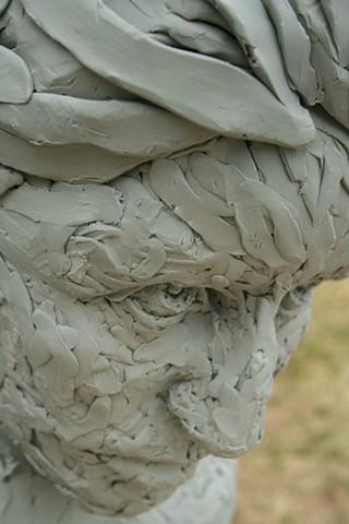 Lauren Pellerito, art, sculpture, portrait, bust, figure, determination