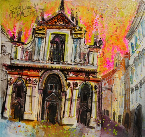 'CURLY CHURCH, PRAGUE' Sold