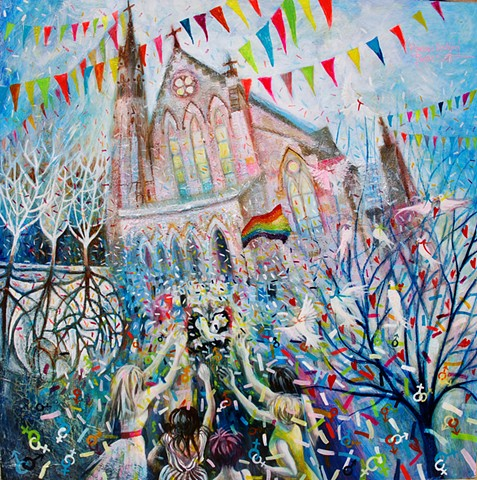 'RAINBOW WEDDING' Sold