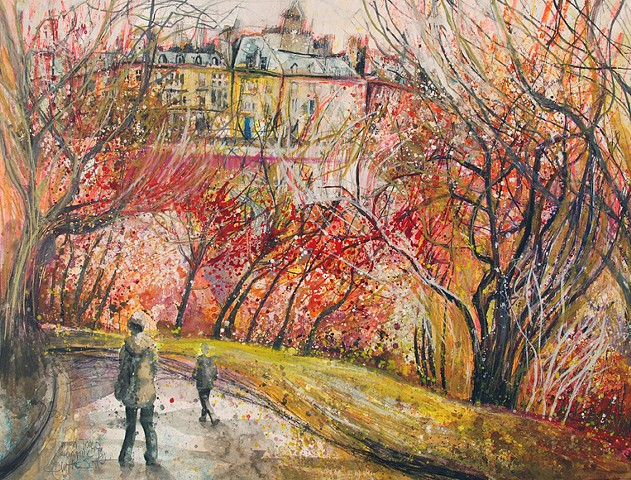 'TANGLED TREES, KELVINGROVE' Sold