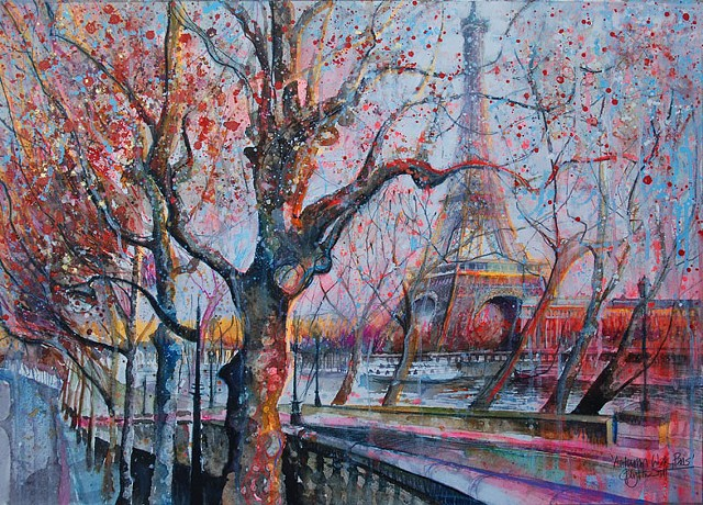 'AUTUMN WALK, PARIS' Sold