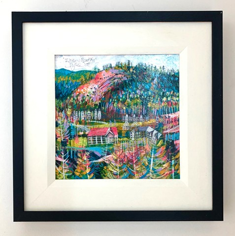 'RAINBOW MOUNTAIN' Framed