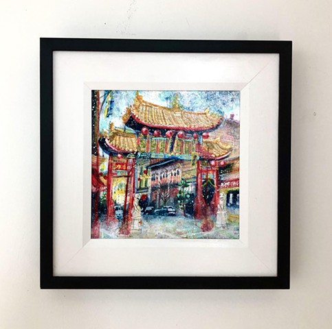 'EAST MEETS WEST' Framed