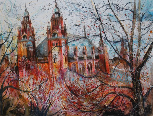 'BEYOND THE TREES, KELVINGROVE' Sold